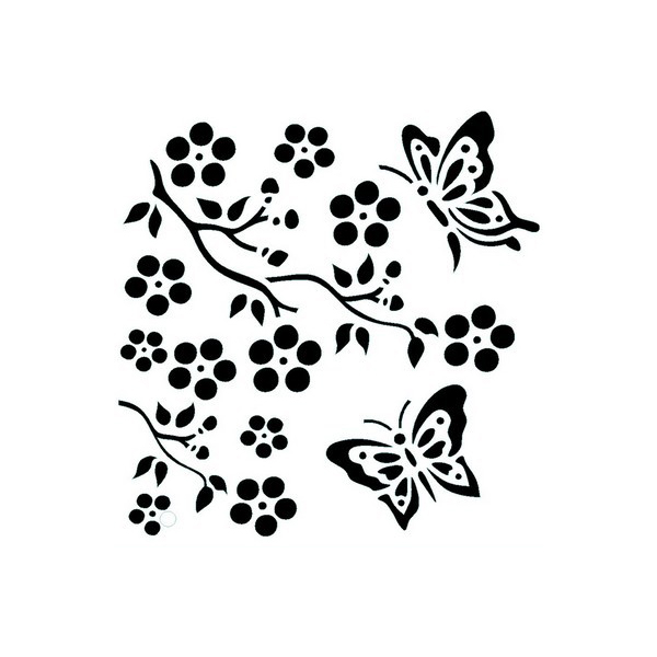 Butterfly Blossom Duo Stencil