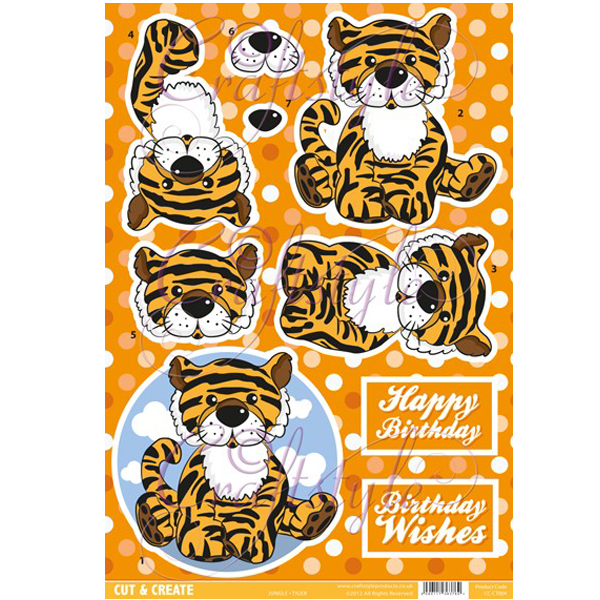 Jungle Topper – Tiger CC-CT004 Cut and Create (Pack of 2)