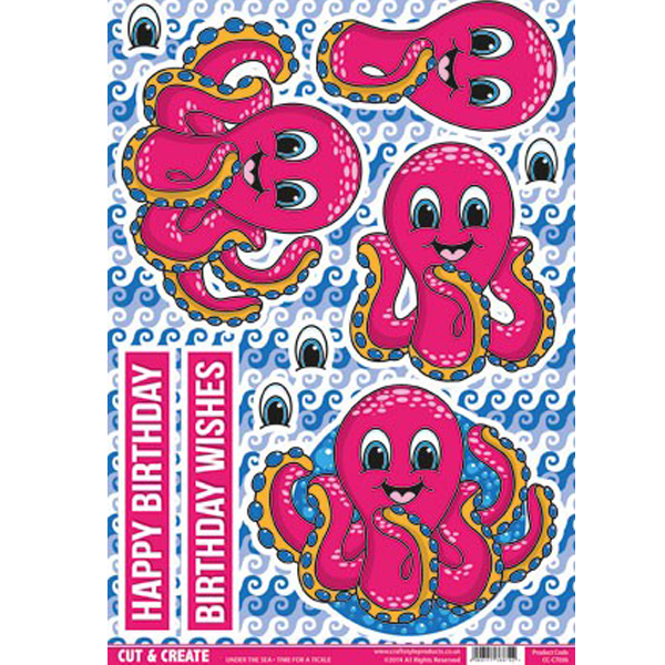 Under the Sea Topper – Octopus CC-CT036 Cut and Create (Pack of 2)