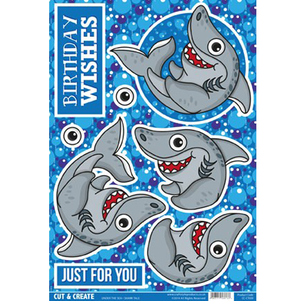 Under the Sea Topper – Shark CC-CT039 Cut and Create (Pack of 2)