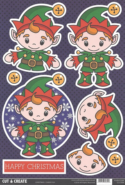 Cheeky Elf CC-CT 056 Cut and Create (Pack of 2)