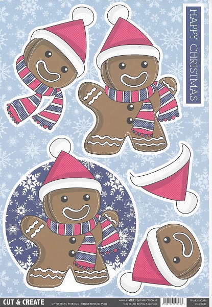 Gingerbread ManCC-CT047 Cut and Create (Pack of 2)