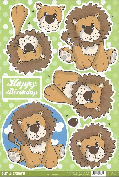 Jungle  Lion CC-CT002 Cut and Create (Pack of 2)