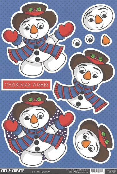 Snowman – CC-CT057  Cut and Create (Pack of 2)
