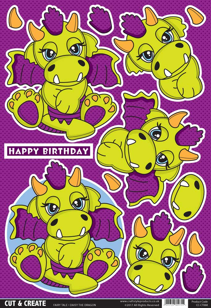 Daisy the Dragon Topper ( Pack of 2 )