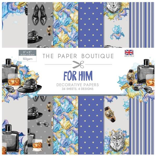 For Him 36 Pages 8″x 8″ 6 sheets per design