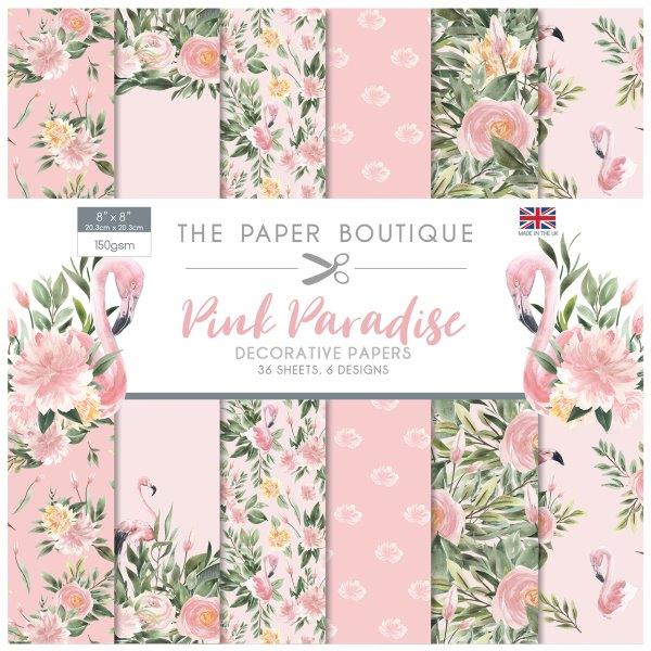 Pink Paradise 36 Pages 8″x 8″ 6 sheets per design
