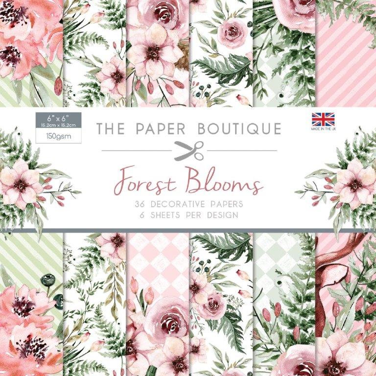 Forest Blooms 36 Pages 6″x6″ 6 sheets per design