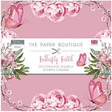 SALE  !!!! Paper Boutique Butterfly Ballet Decorative Papers 6″ x 6″ 36 sheets, 6 designs