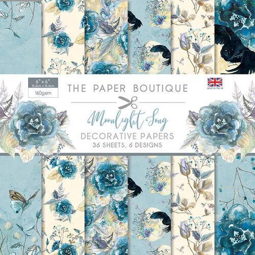 SALE !!!! Paper Boutique Moonlight Song Decorative Papers 6″ x 6″ 36 sheets, 6 designs