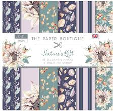 SALE !!!! Paper Boutique Nature's Gift Decorative Papers 6″ x 6″ 36 papers, 6 designs