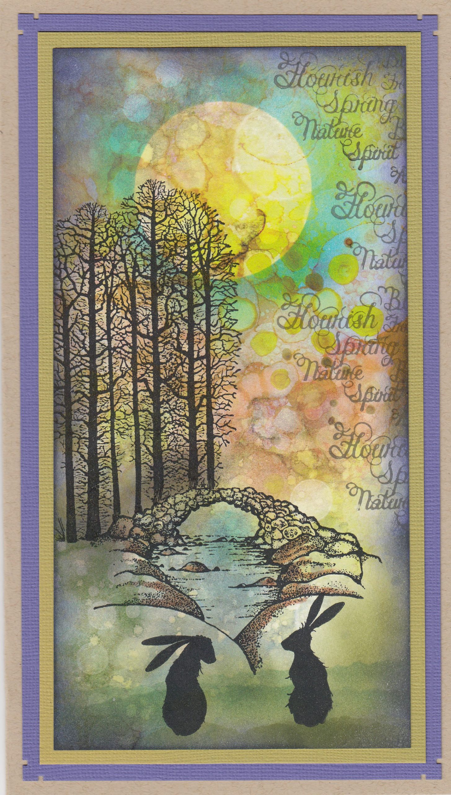 Bridge with Hares by Lana Murray