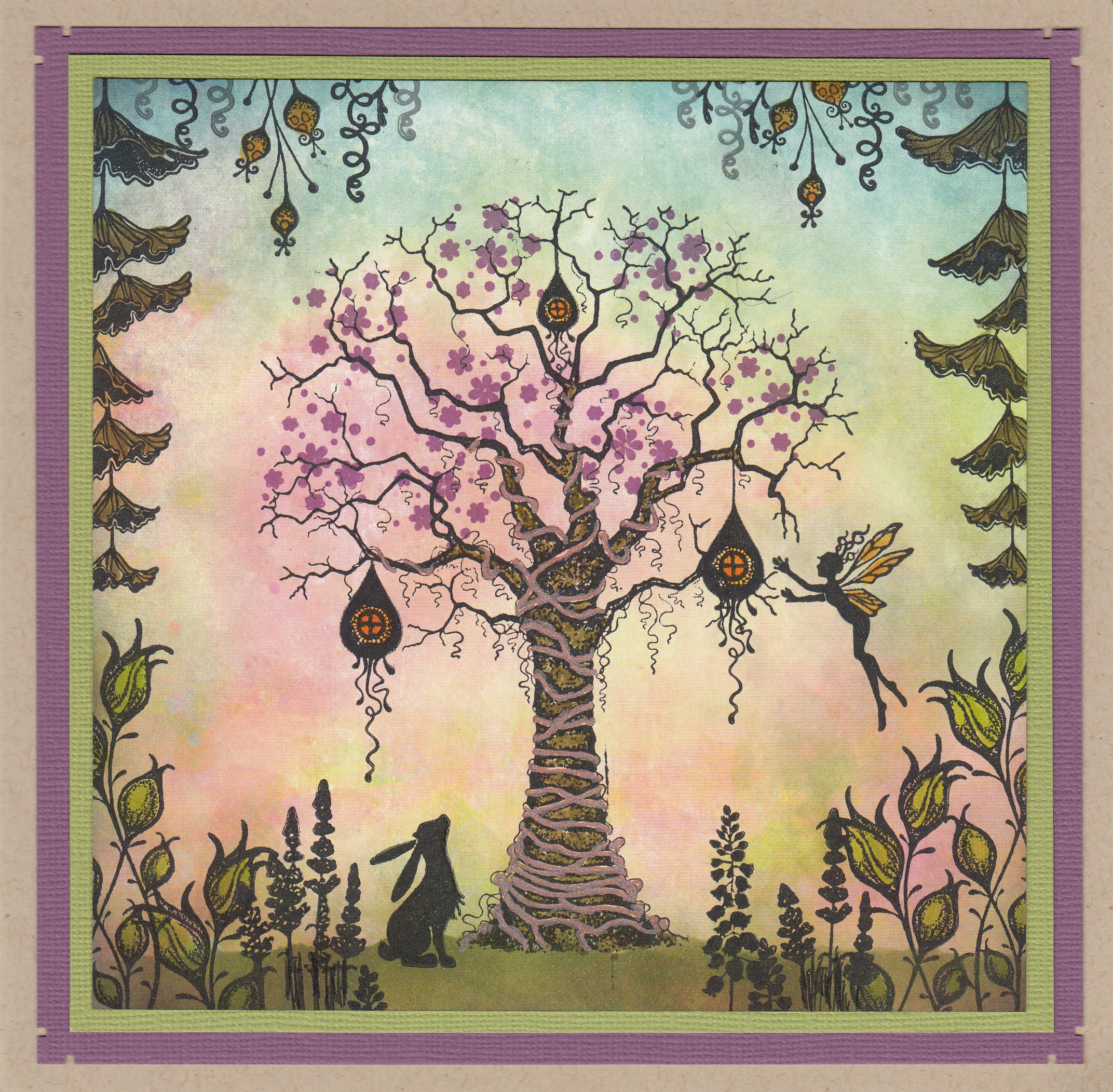 Tree with Hare by Lana Murray