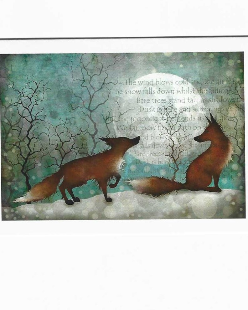 Foxes at Christmas by Tracey Dutton