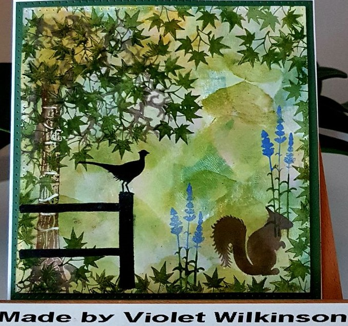 Scene with Squirrel by Violet Wilkinson